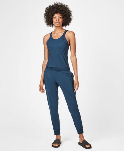 Beautify Jumpsuit, Beetle Blue | Sweaty Betty