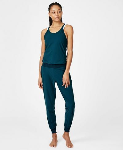 Beautify Jumpsuit, Midnight Teal | Sweaty Betty