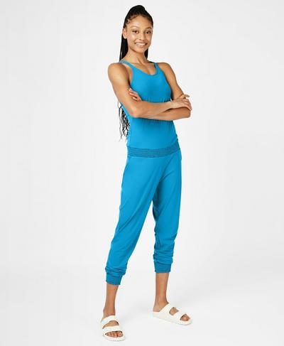 Beautify Jumpsuit, Mosaic Blue | Sweaty Betty