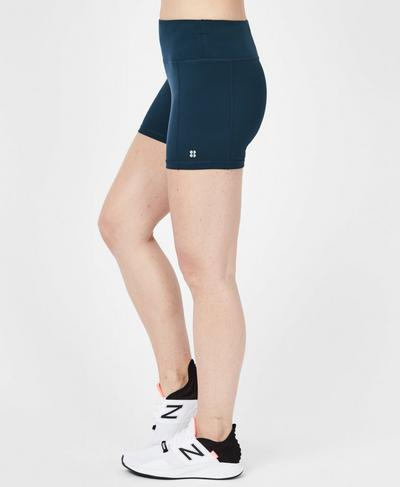 "Contour 4"" Workout Shorts, Beetle Blue 