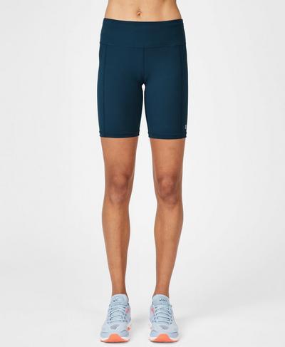 "Contour 7.5"" Gym Shorts, Beetle Blue | Sweaty Betty"