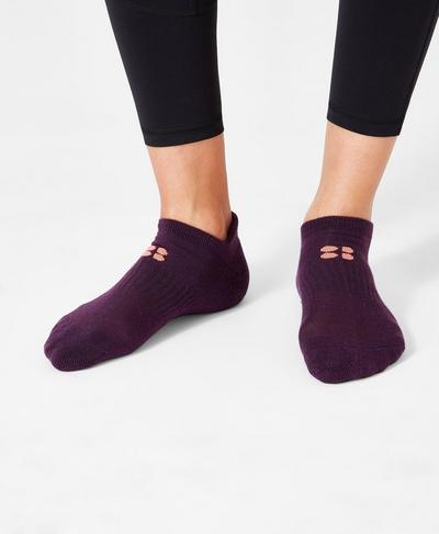 Sneaker Liners, Aubergine | Sweaty Betty