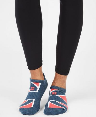 Workout Socks, Beetle Blue Union Jack | Sweaty Betty