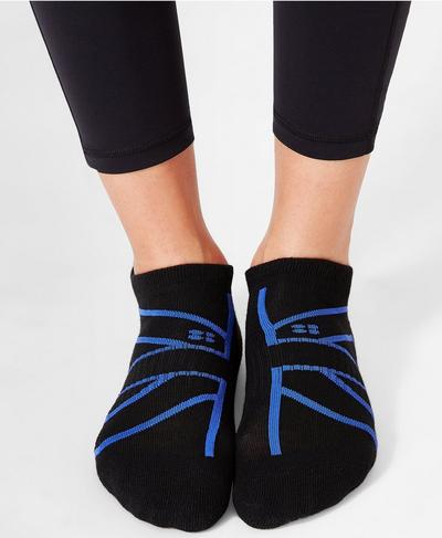 Sneaker Liners, Black Union Jack | Sweaty Betty
