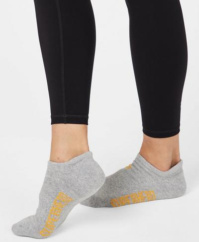Workout Socks, Light Grey Jacquard | Sweaty Betty