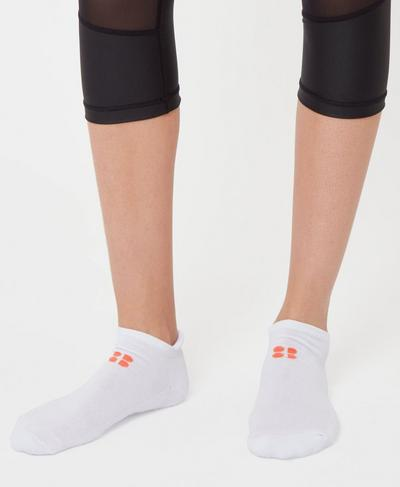 Workout Socks, White | Sweaty Betty