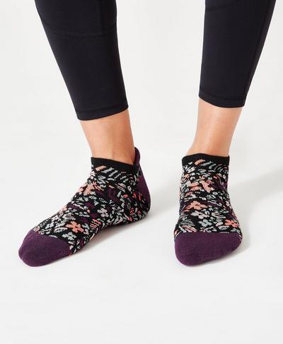 Sneaker Liners, Tulip Red Geo Floral | Sweaty Betty