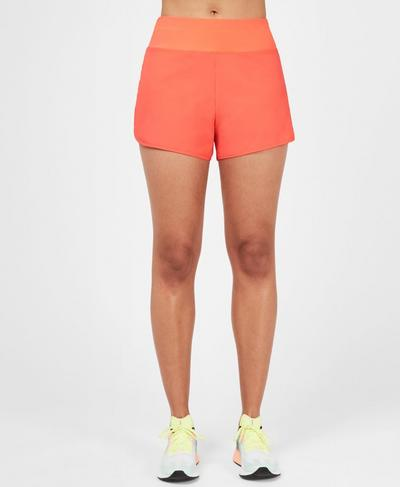 "Time Trial 3.5"" Running Shorts, Fluro Flash 