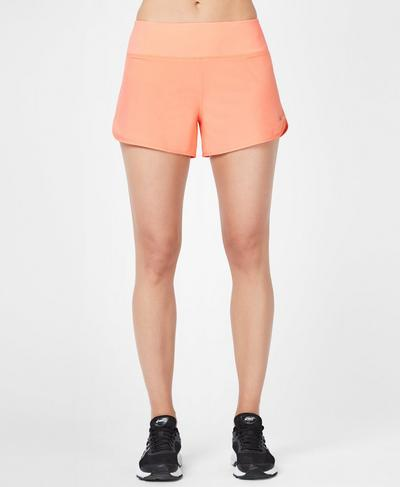 Time Trial Running Shorts, Passion Coral | Sweaty Betty