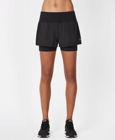 "Challenge 4"" Running Shorts, Black 