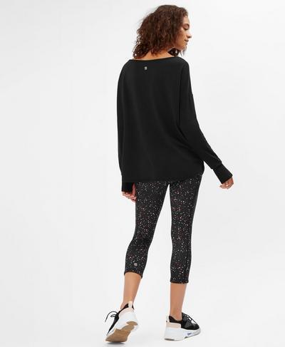 Simhasana Sport Slogan Sweatshirt, Black | Sweaty Betty