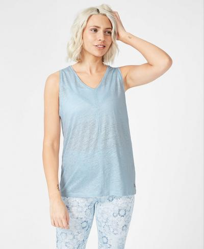 Flow V-Neck Workout Tank, Infinity Blue | Sweaty Betty