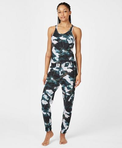 Festival Jumpsuit, Black Cloud Print | Sweaty Betty