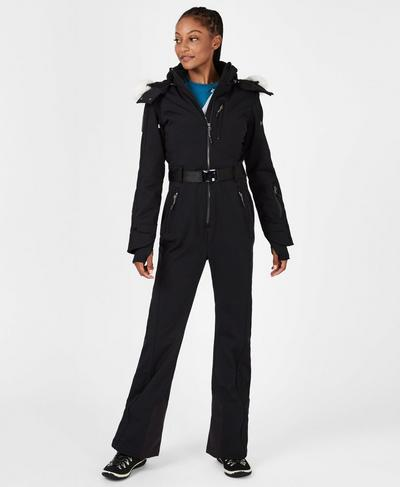 Backcountry Softshell Ski All in One, Black | Sweaty Betty