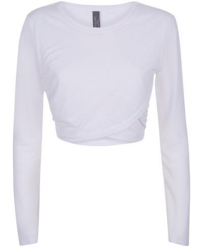 Bohemian Long Sleeve Crop Top, White | Sweaty Betty