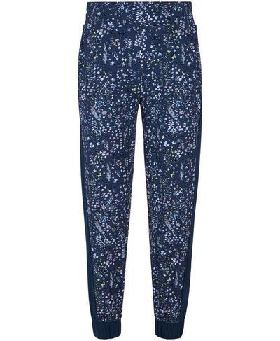 Mellow Printed 7/8 Pants, Beetle Blue Stay Wild Print   Sweaty Betty