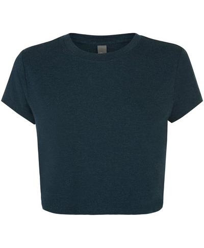 Free Run Crop Workout T-Shirt, Beetle Blue | Sweaty Betty