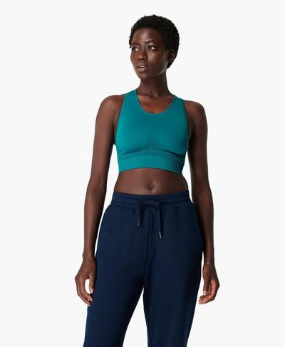 Stamina Sports Bra, Atlantic Green | Sweaty Betty