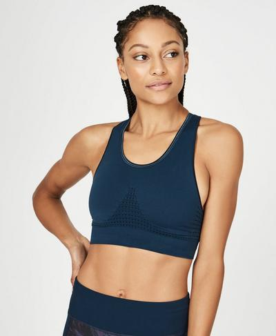 Stamina Workout Bra, Beetle Blue | Sweaty Betty