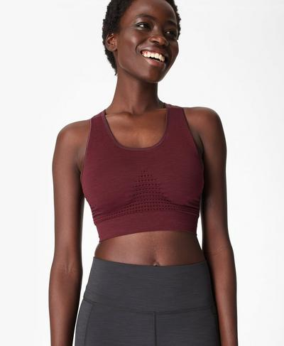 Stamina Sports Bra, Black Cherry | Sweaty Betty