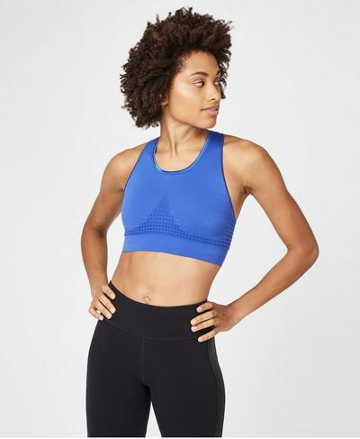 Stamina Sports Bra, Blue Quartz | Sweaty Betty