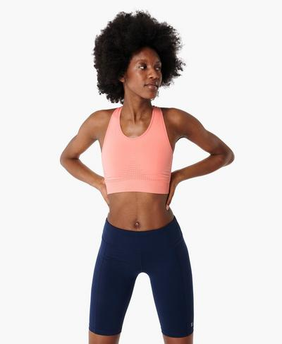 Stamina Sports Bra, Calypso Pink | Sweaty Betty
