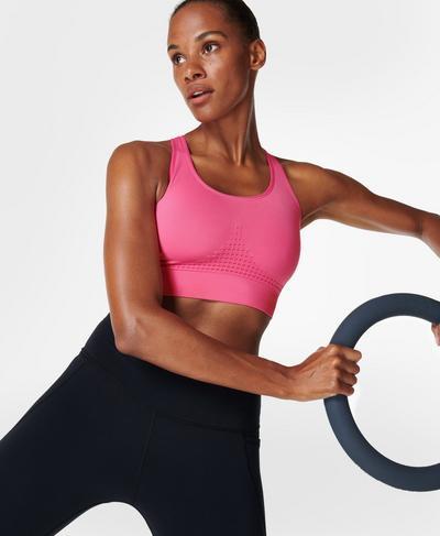 Stamina Workout Bra , Camellia Pink | Sweaty Betty