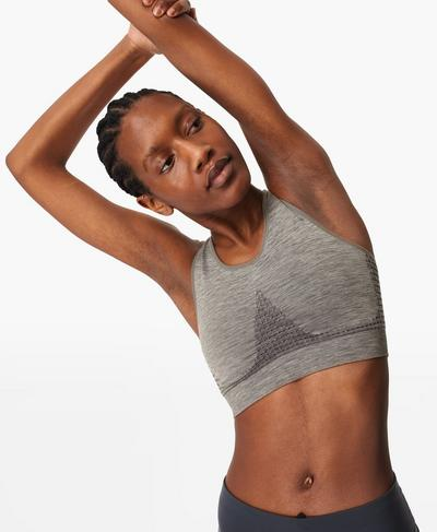 Stamina Sports Bra, Charcoal Grey Marl A | Sweaty Betty