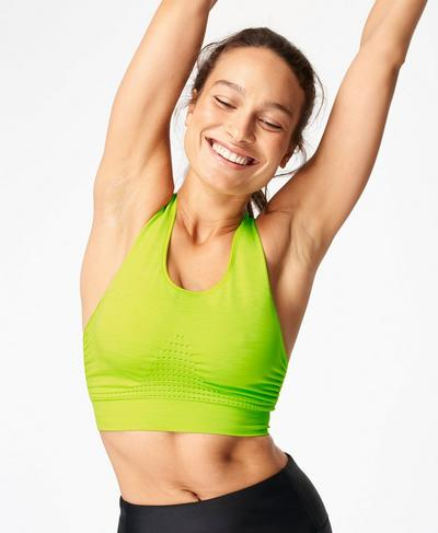 Stamina Sports Bra, Citrus Green | Sweaty Betty