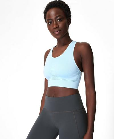 Stamina Sports Bra, Ice Blue | Sweaty Betty