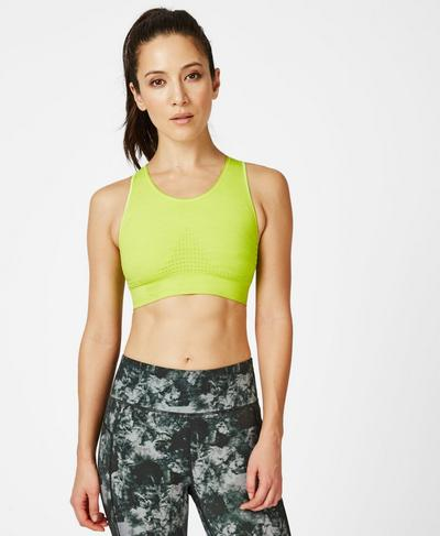 Stamina Sports Bra, Lime Punch Green | Sweaty Betty