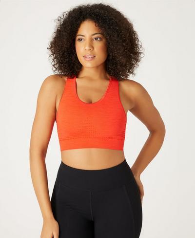 Stamina Sports Bra, Orange   Sweaty Betty