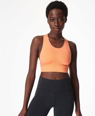 Stamina Sports Bra, Peach Orange | Sweaty Betty