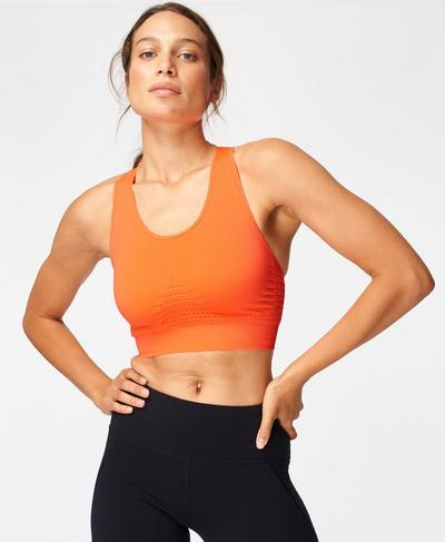 Stamina Sports Bra, Shocking Orange | Sweaty Betty