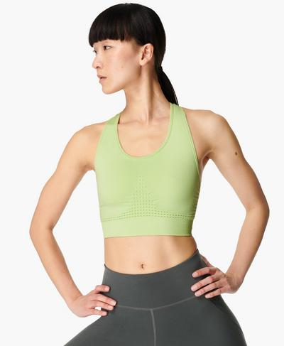 Stamina Sports Bra, Utopia Green | Sweaty Betty