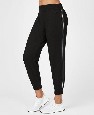 Connect Cuffed 7/8 Track Pants, Black | Sweaty Betty