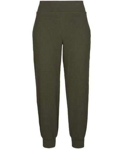 Connect Cuffed 7/8 Track Pants, Olive | Sweaty Betty