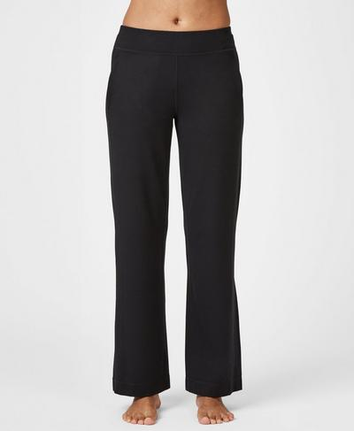 Lotus Yoga Trousers, Black | Sweaty Betty