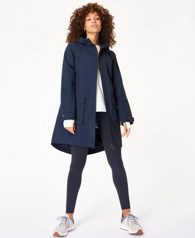 Stride Waterproof Parka, Beetle Blue | Sweaty Betty