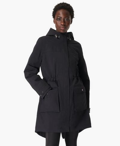 Stride Waterproof Parka, Black | Sweaty Betty