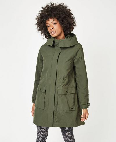 Stride Parka, Olive | Sweaty Betty