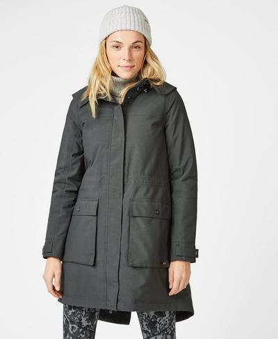 Stride Winter Waterproof Parka, Slate Grey | Sweaty Betty