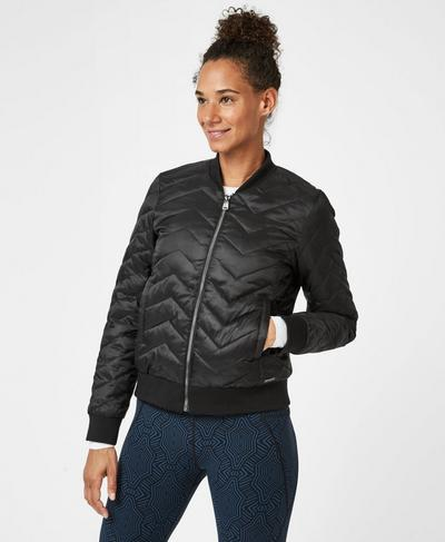 Glacier Bomber, Black | Sweaty Betty