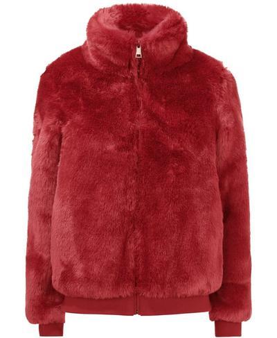 Model Faux Fur Bomber Jacket, RUST | Sweaty Betty