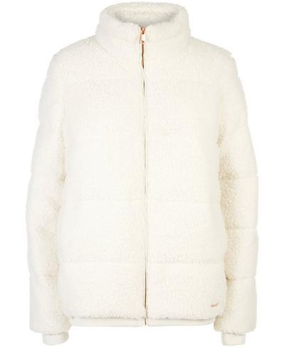 Sherpa Zip Through Bomber Jacket, Winter White | Sweaty Betty