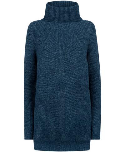 Shakti Wool Blend Jumper, Beetle Blue | Sweaty Betty