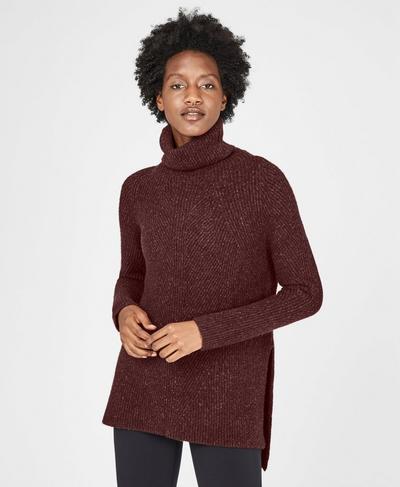 Shakti Wool Blend Sweater, Black Cherry | Sweaty Betty