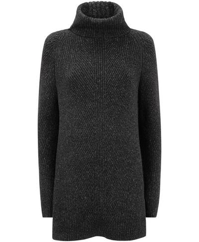 Shakti Wool Blend Jumper, Black Marl | Sweaty Betty