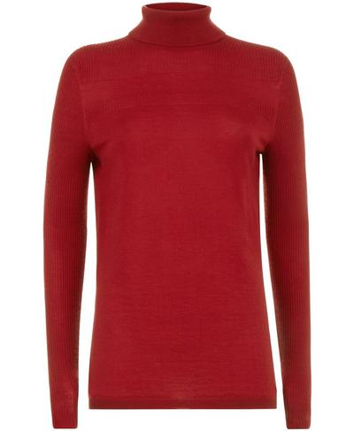 Alpine Merino Turtleneck Knitted Jumper, Retro Red | Sweaty Betty