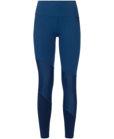 Power Mesh 7/8 Workout Leggings, Beetle Blue | Sweaty Betty